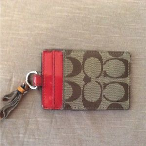 Coach Accessories - Coach luggage tag red